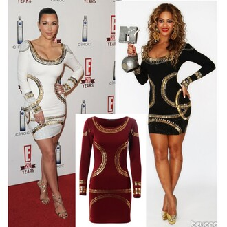 dress clubwear white bandage dress beyoncé celebrity style kim kardashian bodycon dress