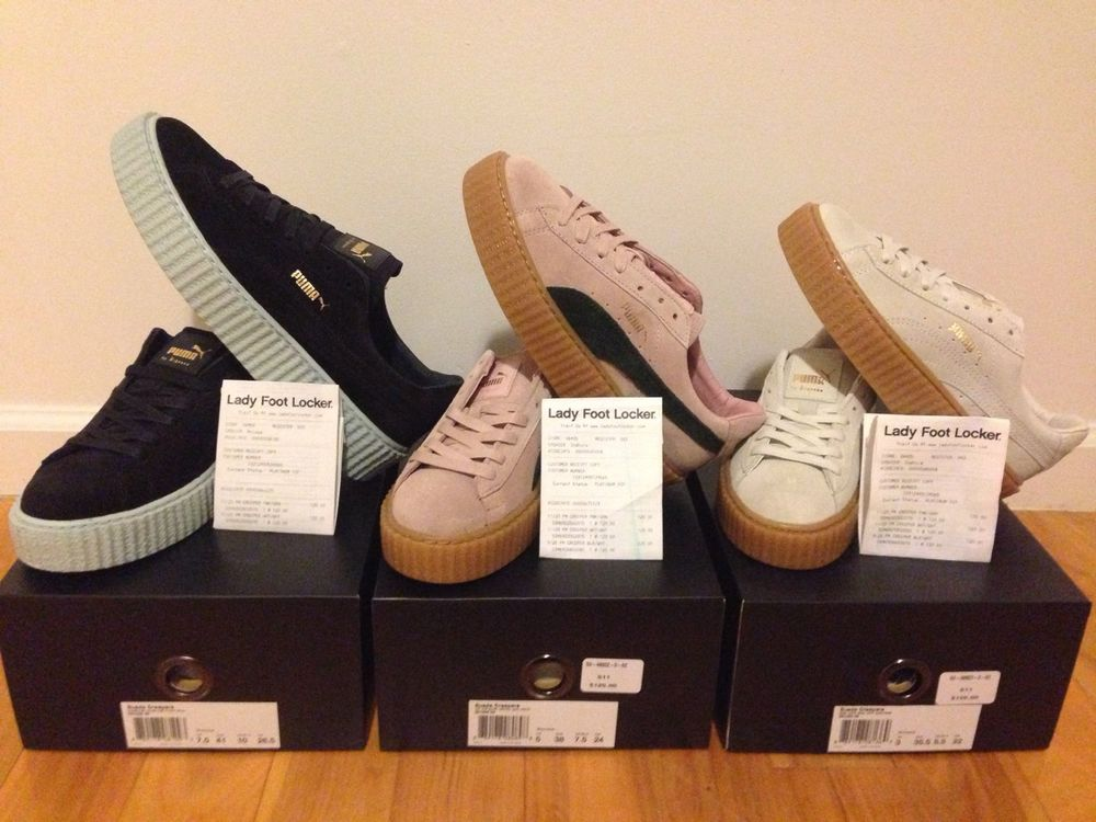 factory authentic 38568 53158 PUMA BY RIHANNA CREEPER NEW COLOR FENTY PINK-OATMEAL | WHITE-OATMEAL | COOL  BLUE