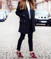 shoes,white,grey,nikes,marron,sneakers,nike sneakers,new balance,jacket,coat,iwantitasmyhusband,canimarryitplease,navy coat,trench coat,duster coat,classic,amazing,long coat,iloveit