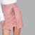 Criss Cross Lace Up Skirt MAUVE -SheIn(Sheinside)