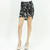 Zebra print knot detailed bodycon mini skirt