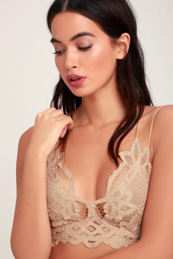 Adella Nude Lace Bralette