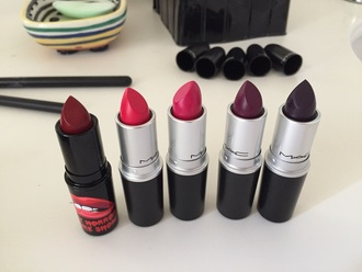 make-up mac cosmetics mac lipstick mac mac makeup red purple purple lipstick lipstick red lipstick