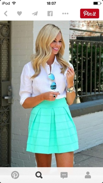 top skirt jewels sunglasses