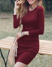 dress,burgundy,fashion,red dress,trendy,casual,fall outfits,long sleeves,burgundy dress,long sleeve dress,bodycon,bodycon dress,party dress,sexy party dresses,sexy,sexy dress,party outfits,sexy outfit,spring dress,spring outfits,fall dress,winter dress,winter outfits,classy dress,elegant dress,cocktail dress,cute dress,girly dress,date outfit,birthday dress,clubwear,club dress,graduation dress,homecoming,homecoming dress,wedding clothes,wedding guest,engagement party dress,romantic dress