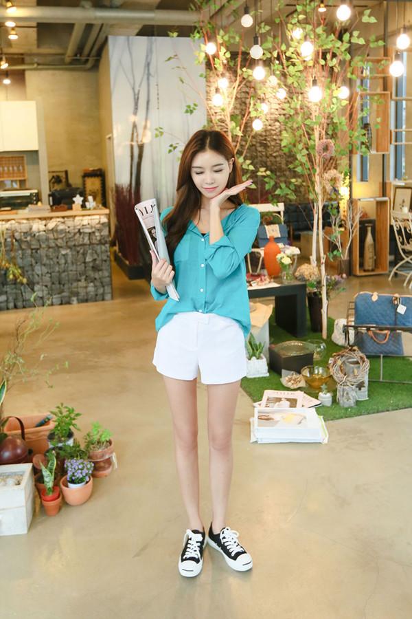 korean fashion korean style light blue women t shirts women top asian fashion shirt
