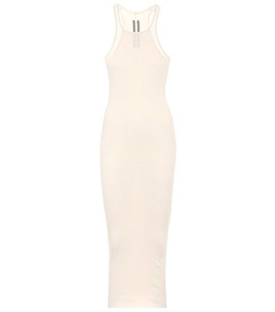 Rick Owens dress sleeveless cotton white