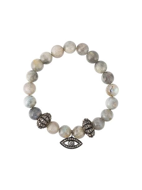 Gemco women moon charm bracelet silver grey jewels