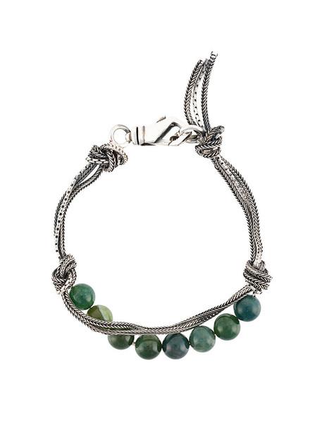 EMANUELE BICOCCHI women beaded silver green jewels