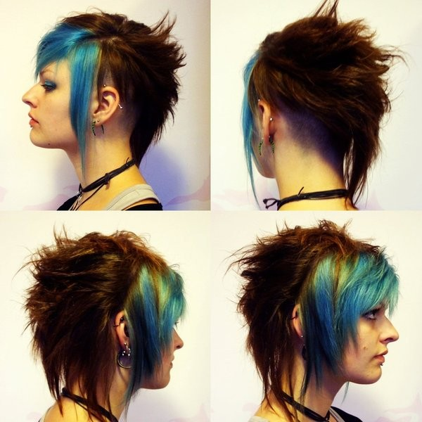 jewels fukari hair dye piercing eye shadow blue dye green dye