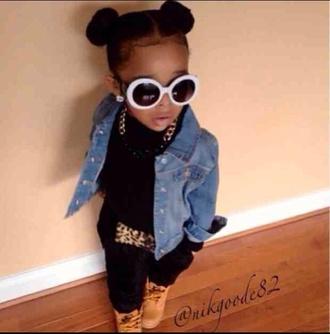 jumpsuit kiddie kouture kids fashion cheetah print timberlands gold chain swag