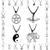 New Fashion HOT Tibetan Silver Pendant Necklace Choker Charm Black Leather Cord