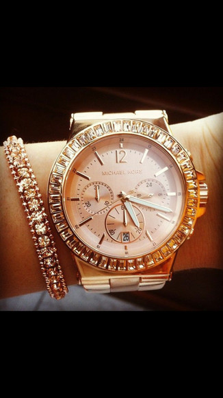 jewels rose gold watch michael kors