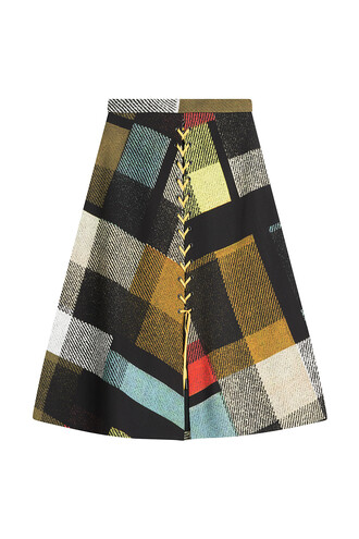 skirt printed skirt multicolor