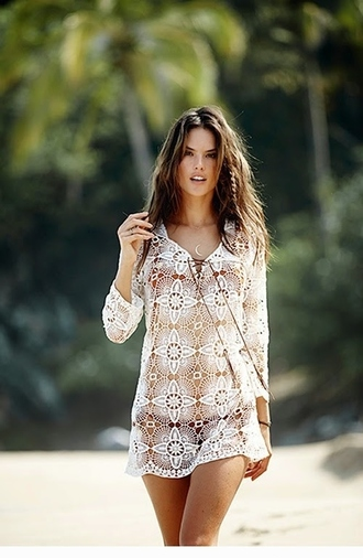 dress summer dress summer outfits alessandra ambrosio lace dress
