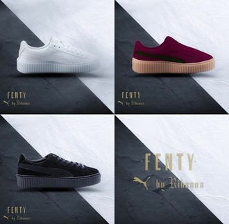 shoes rihanna puma creepers sneakers new colors coming soon fenty 2016 pre-order $$$$ litty bitch