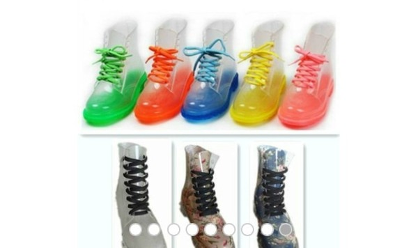 shoes jelly boots