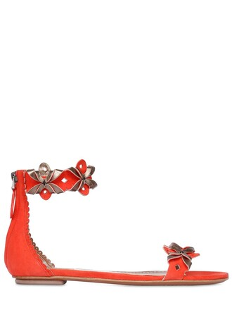 metallic sandals leather sandals leather suede coral shoes