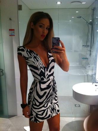 dress zebra body-con dress