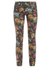 jeans,floral,cotton,print,blue