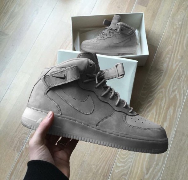 Nike Gray Air Force 1 Suede Sneakers