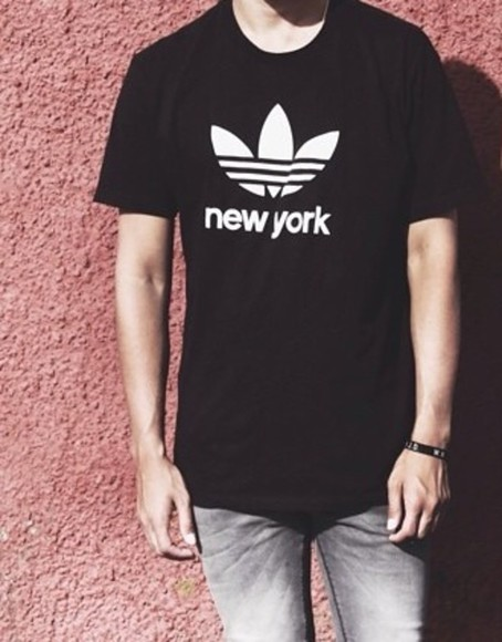 new york city t-shirt adidas