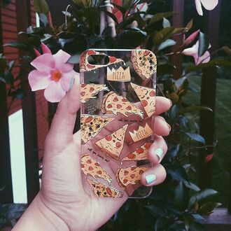 phone cover yeah bunny pizza iphone food tumblr