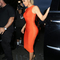 Cut out midi bandage dress orange