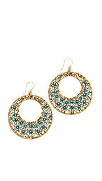 earrings blue jewels