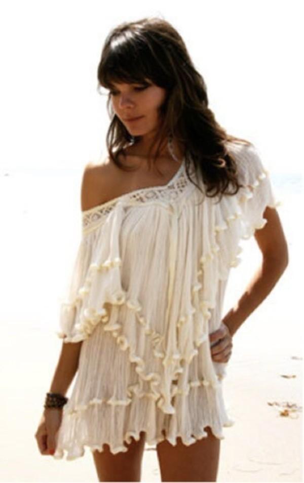 dress cream dress cover up