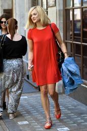 fearne cotton,red dress,dress