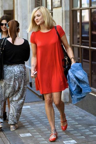 fearne cotton red dress dress