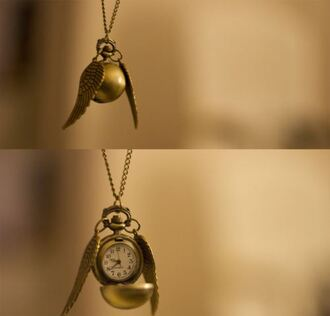 jewels harry potter necklace clock