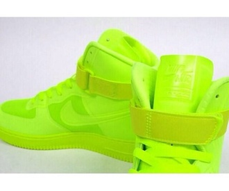 shoes sneakers high top sneakers neon nike sneakers nike shoes