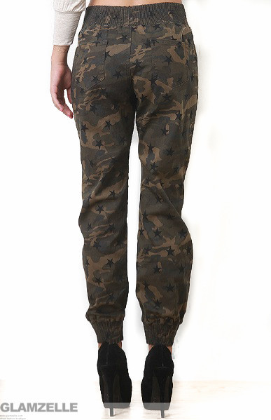 "Swagga ""camo star"" camouflage print joggers – glamzelle"