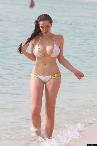 Swimwear: helen flanagan, pittbull don't stop the party, white gold ...