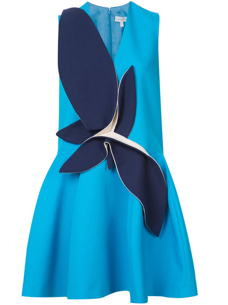 DELPOZO dress women cotton blue