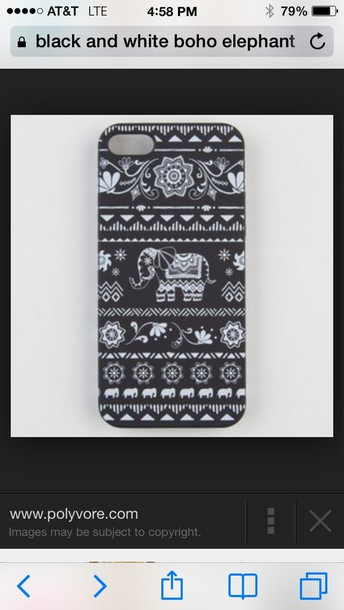coat pattern iphone 5 case boho elephant