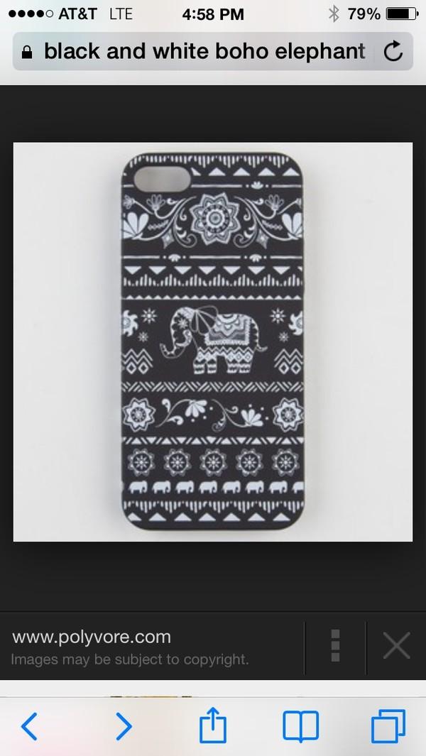 coat pattern iphone 5 case boho elephant