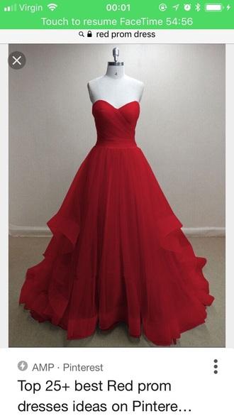 dress red dress prom dress strapless
