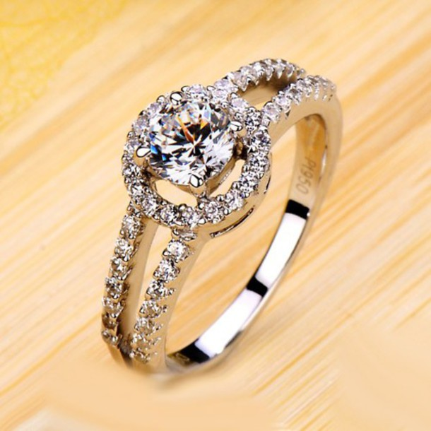 jewels, diamond ring for her, gold plated women ring, unique ...