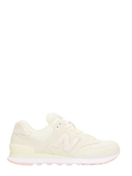 New Balance sneakers suede pink white shoes