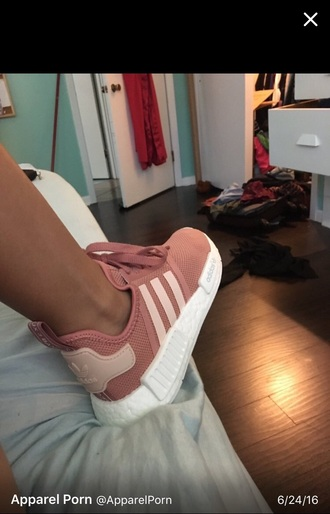 shoes adidas white mauve pink