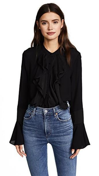 Ella Moon blouse black top