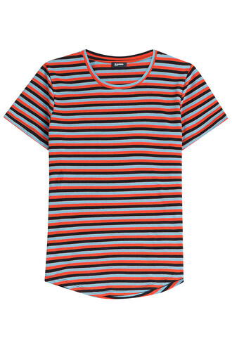 t-shirt shirt cotton t-shirt cotton stripes top