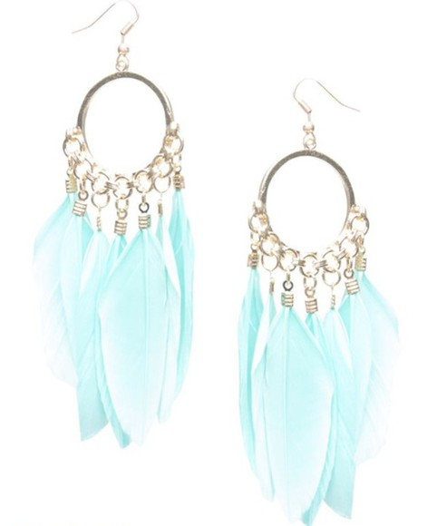 jewels earrings dream catcher feathers