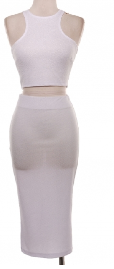 Lux Crop Set in White | Raggedy Endz
