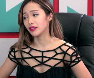dress cut-out dress michelle phan