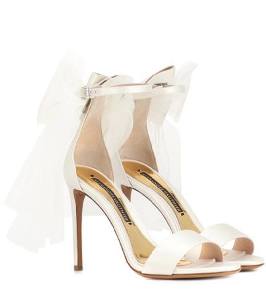 Alexandre Vauthier Bowdown 2 satin sandals in white