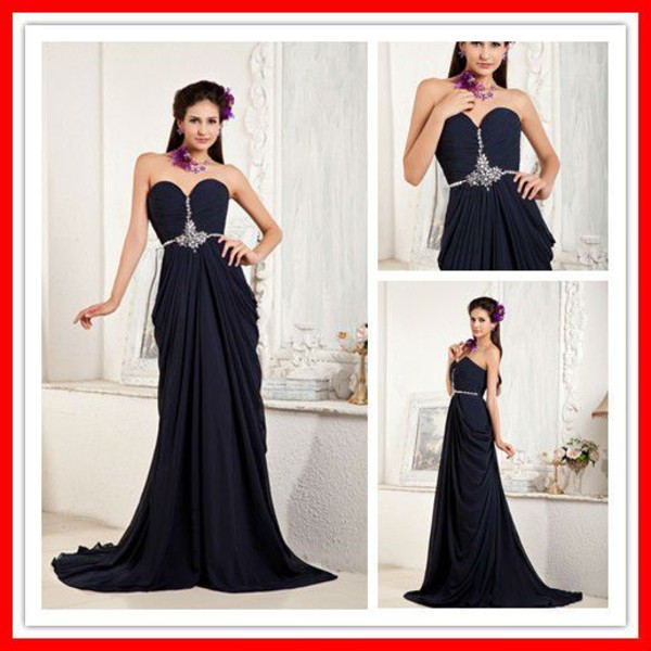 a line dress sweetheart dress chiffon chapel train evening dress